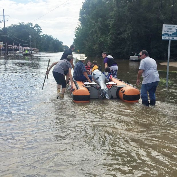 "Clay ferried stranded neighbors from their flooded homes to safer, higher ground. The local Fire Chief said, ""If I hadn't seen what that boat could do, I wouldn't have believed it."""