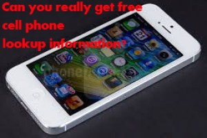 Can you really get free cell phone lookup information?