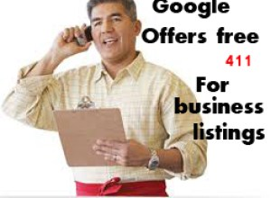 Google offers free 411 for business listings