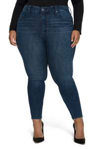 Good Good American Good Legs Chewed Hem Ankle Skinny JeansAmerican Good Legs Chewed Hem Ankle Skinny Jeans