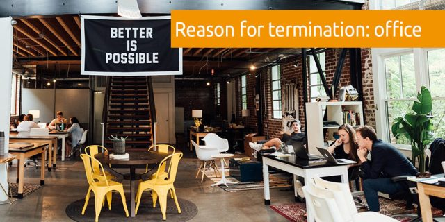 reason termination office design