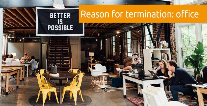 reason termination office design