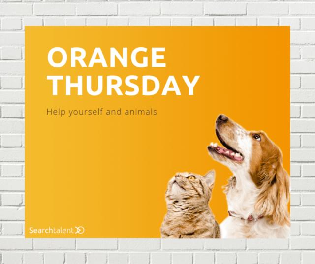 orange-thursday-searchtalent-aktion