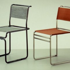 Steel Chair Repair Banquet Cover Hire Seat Back Seats And Stools Tubular Chairs 1928 29 Marcel Breuer From Bauhaus Archiv Berlin