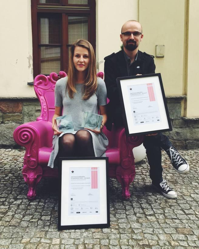 Nagrodę odebrała Paulina Urbańska i Waldemar Węgrzyn