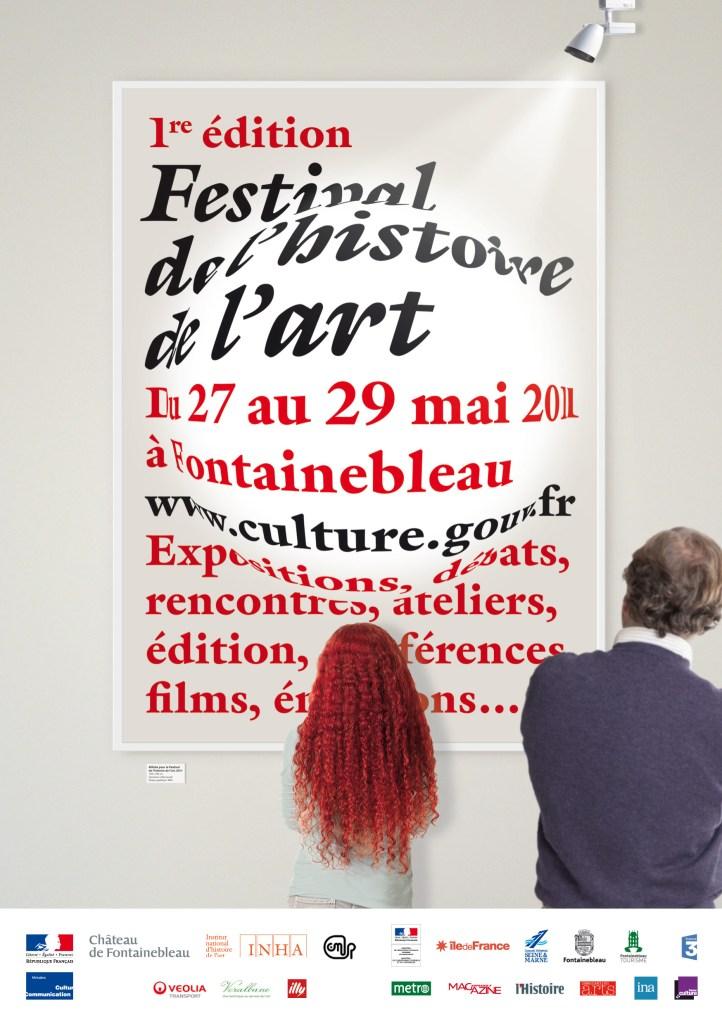 Affiche du Festival de l'Histoire de l'art, design © MAJi