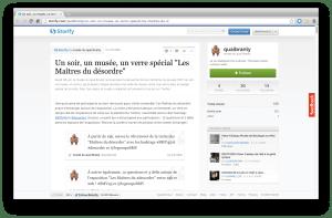"""Capture d'écran du storify consacré au SMV45 """"Les Maîtres du désordre"""""""