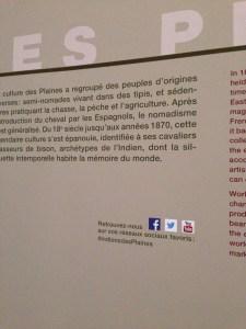 """Intégration des réseaux sociaux dans l'exposition """"Indiens des Plaines"""""""