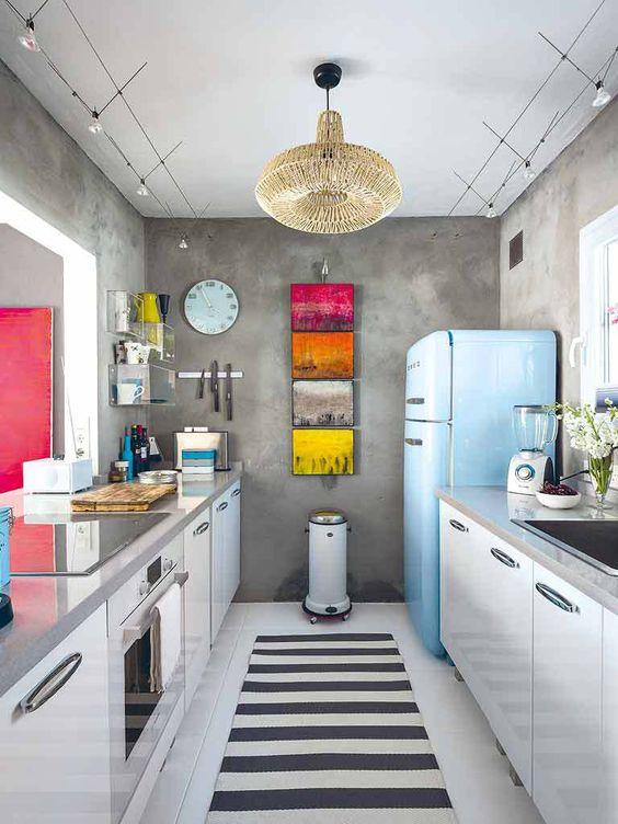 Reformas de cocina con estilo Vintage  aqua