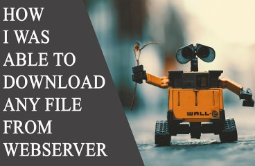 How  I was able to Download Any file from Web server!