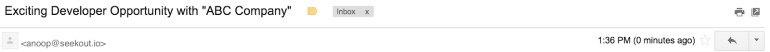 an example of a bad cold recruiting email template subject line