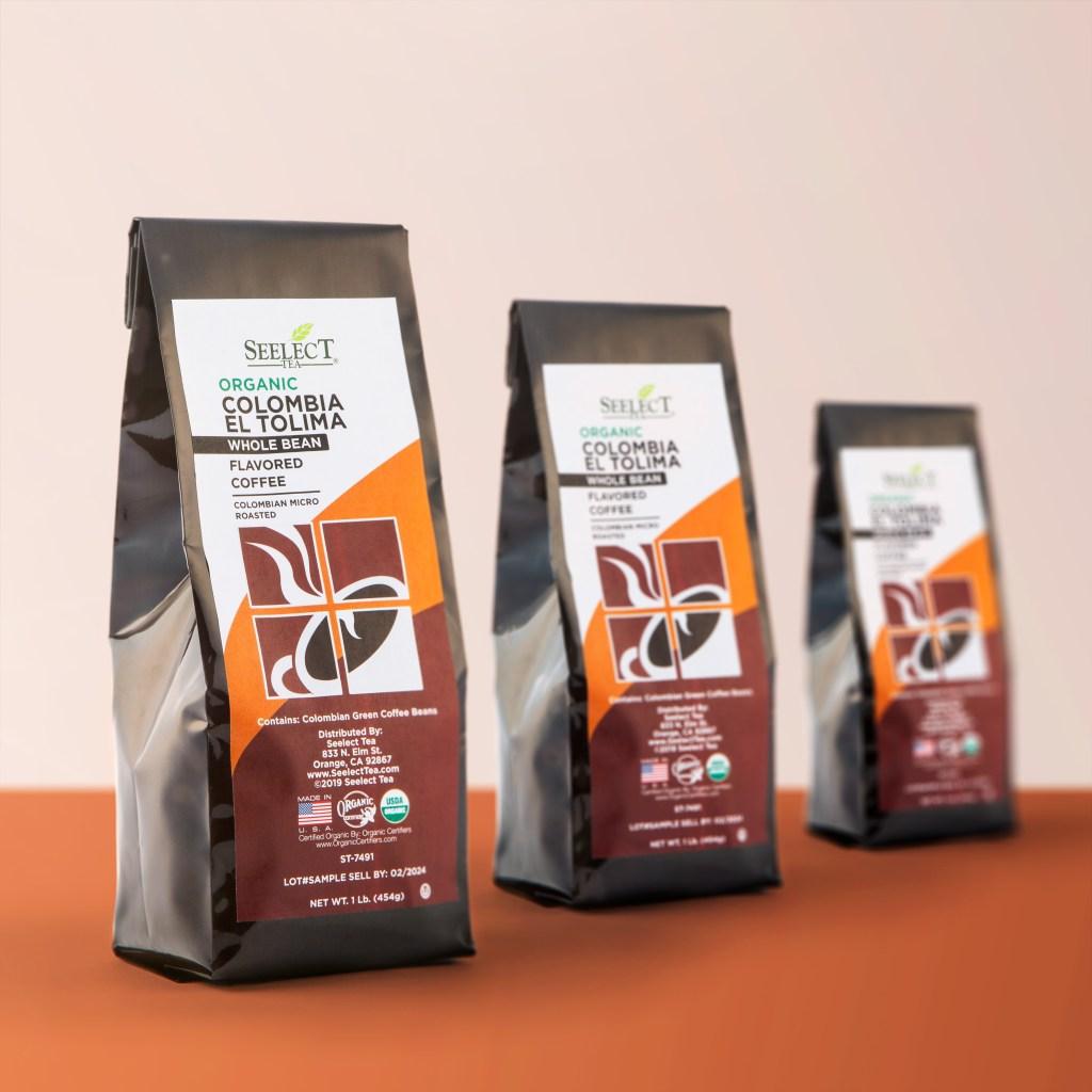 Seelect Tea's organic colombian green coffee beans.