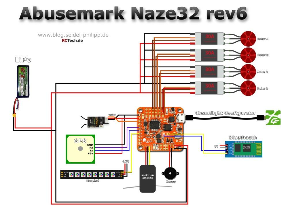 medium resolution of abusemark naze32 rev6 pin layout und anschlussplan naze32 wiring diagram for dsm2 naze32 wiring spektrum satellite
