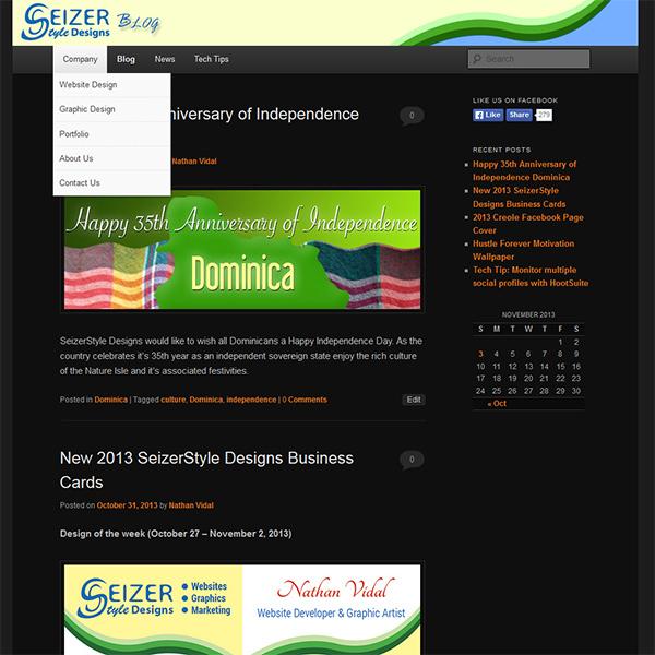 SeizerStyle Designs Blog Nov 2013 design