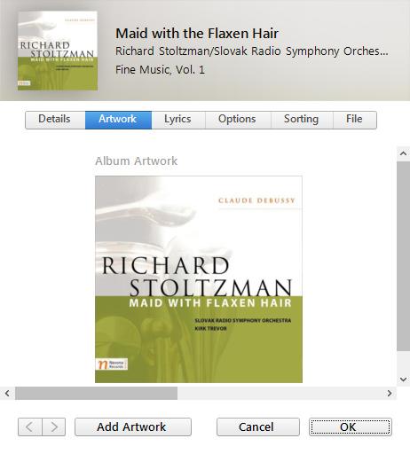 Album Art in iTunes