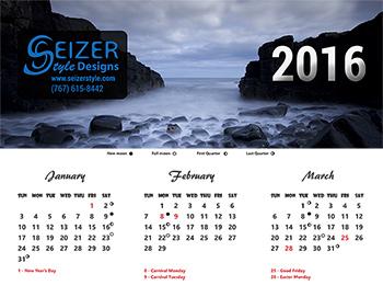Rebirth 2016 calendar
