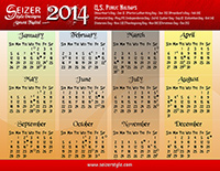 2014 Calendars: Almost Faded & Purple Class