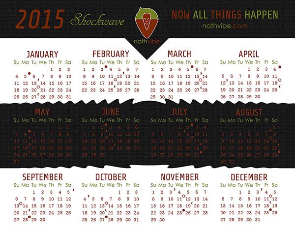 nathvibe 2015 Calendar - Shockwave