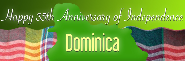Dominica 35 Independence Banner