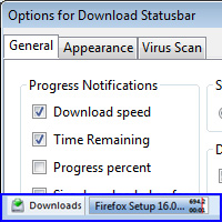 Download Statusbar Add-on for Firefox