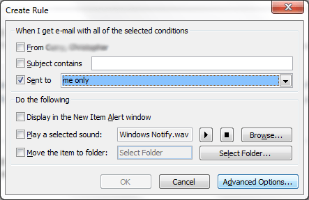 Create New Outlook Rule 1