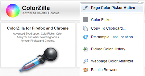 Tech Tip: Find a color from a website with ColorZilla