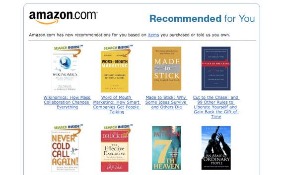 amazon-email-reccomend
