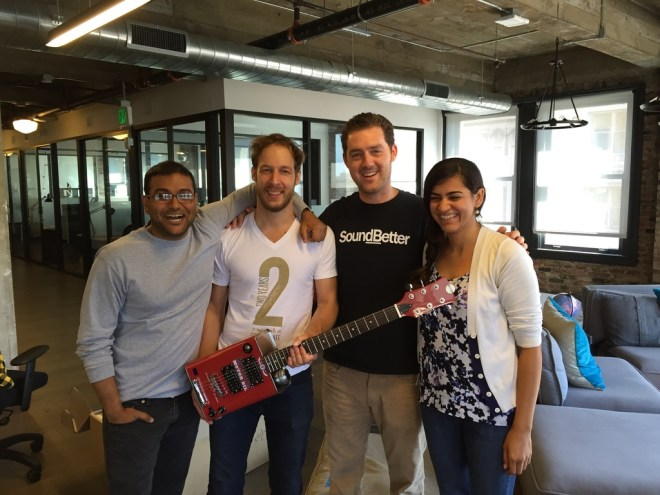 Team Sonar with Mike's new Bohemian Motor Oil Guitar