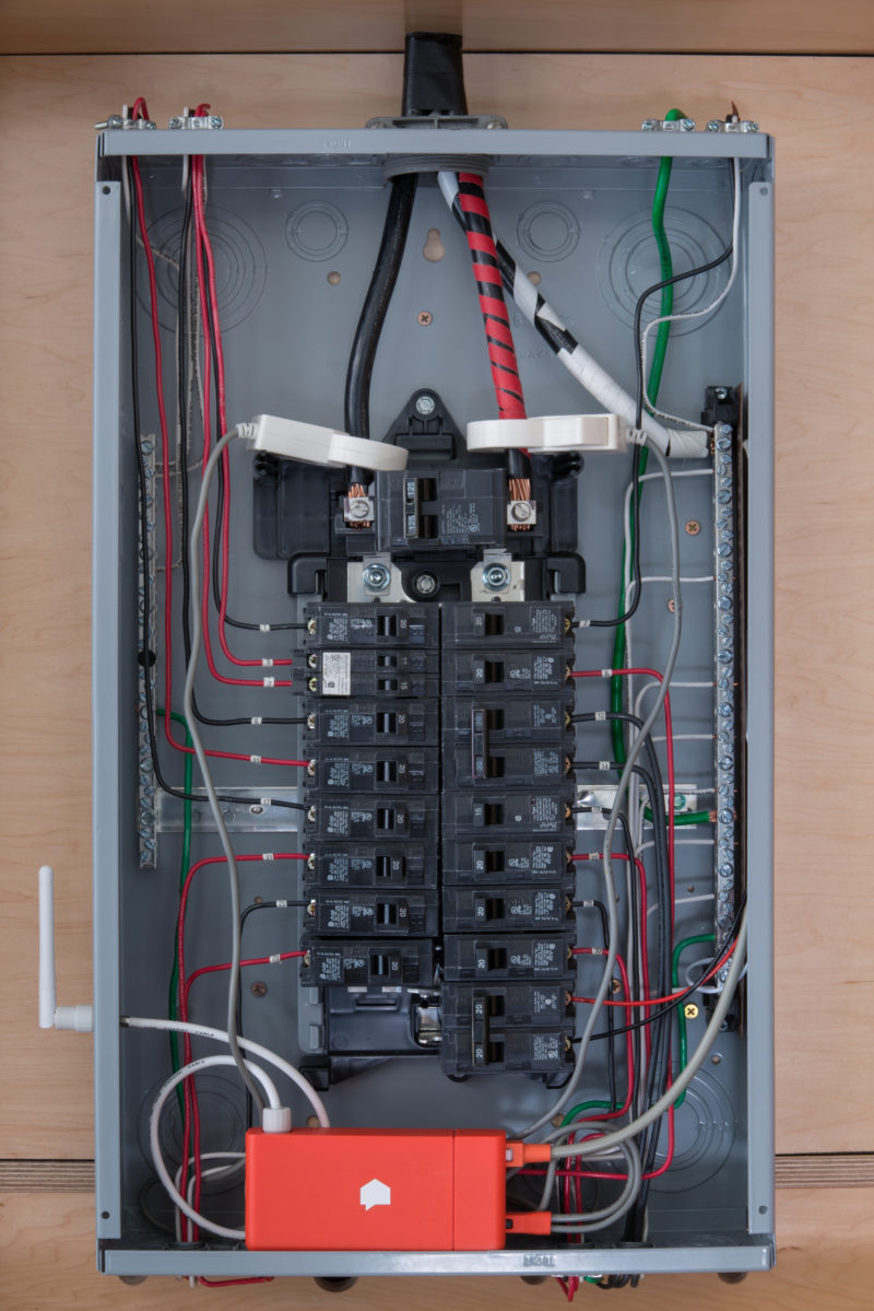 medium resolution of sense installs in your home s electrical panel behind the meter and measures current