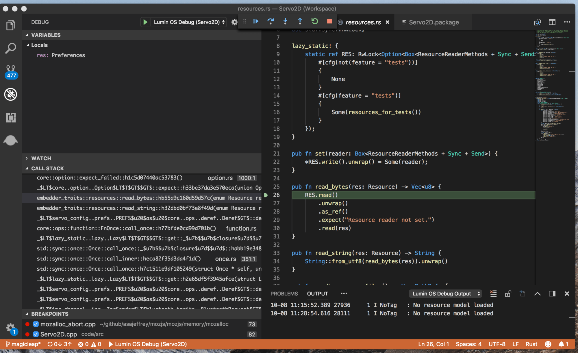 hight resolution of debugging in vscode