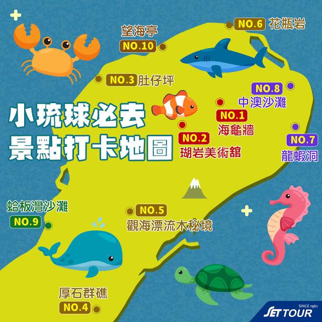 小琉球景點地圖|東南旅遊