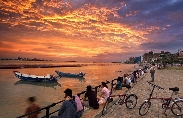 淡水夕陽|東南旅遊