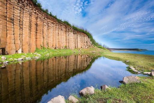 大菓葉柱狀玄武岩|東南旅遊