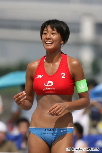 Female Japanese beach volleyball player Miwa Asao leaked nude sexy photos