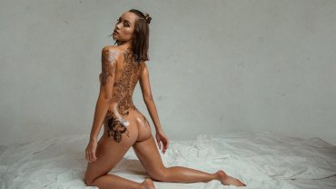 Erin-Tequila-aka-Erin-Fitzgerald-nude-025-by-ohfree.net_ Thai and Irish model Erin Fitzgerald nude and covered in fake tattoos