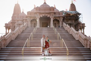 "Brinda wanted her wedding to have an ""India-feel"" to it. What better than to get married at the BAPS Swaminarayan Mandir."