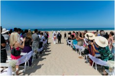 The Christian ceremony was on the beach at the Embassy Suites Mandalay Beach Resort