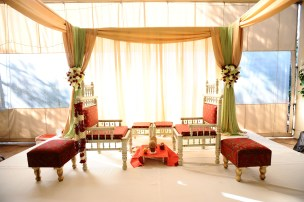 A closer look at the mandap for you.