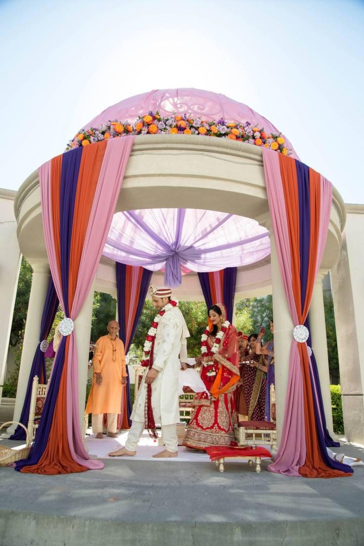 Rotunda mandap style for an Indian wedding.