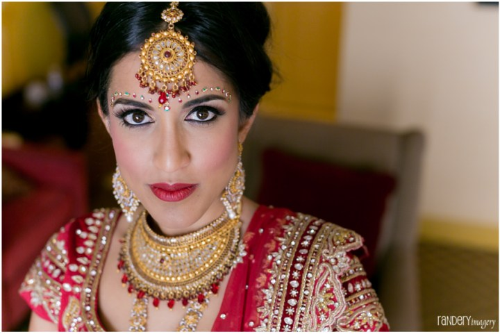 Indian bride's makeup for wedding