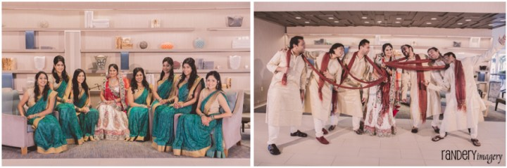 49-California-Long-Beach-Hyatt-Orange-County-Indian-Hindu-Gujarati-Wedding-ceremony-Photography-Bridesmaids-Groomsmen-Photos