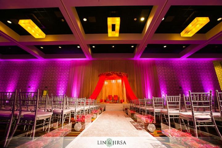 Indoor mandap at an Indian wedding
