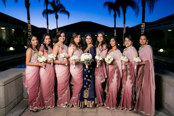 AH-Richard-Nixon-Library-bridesmaids saris-Azhar-Heena