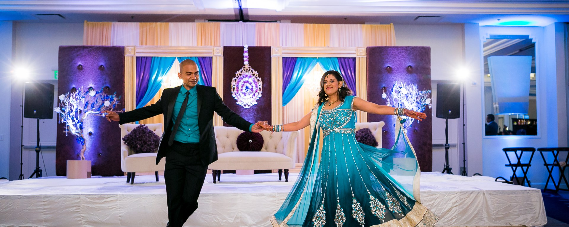 Indian Wedding Decor Turquoise And Purple Indian Wedding Venues