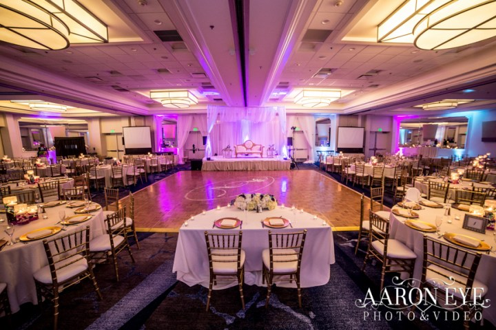 Indian wedding reception at the Marriott Newport Beach.