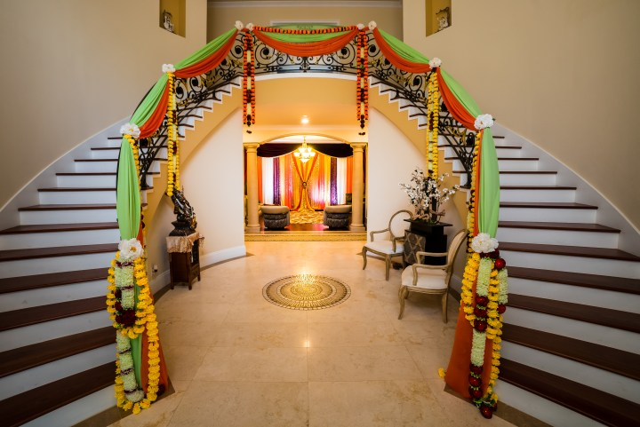 traditional Indian wedding decor at home