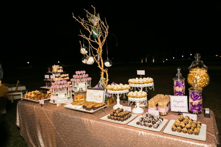 Desserts at Indian wedding reception.