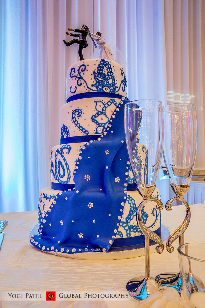 blue Indian wedding cake