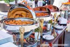 Indian wedding at Hotel Irvine with vegetarian catered Indian food.