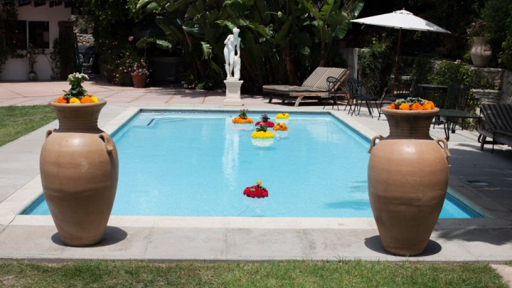 Pool at the Vila in Malibu where an Indian couple got married